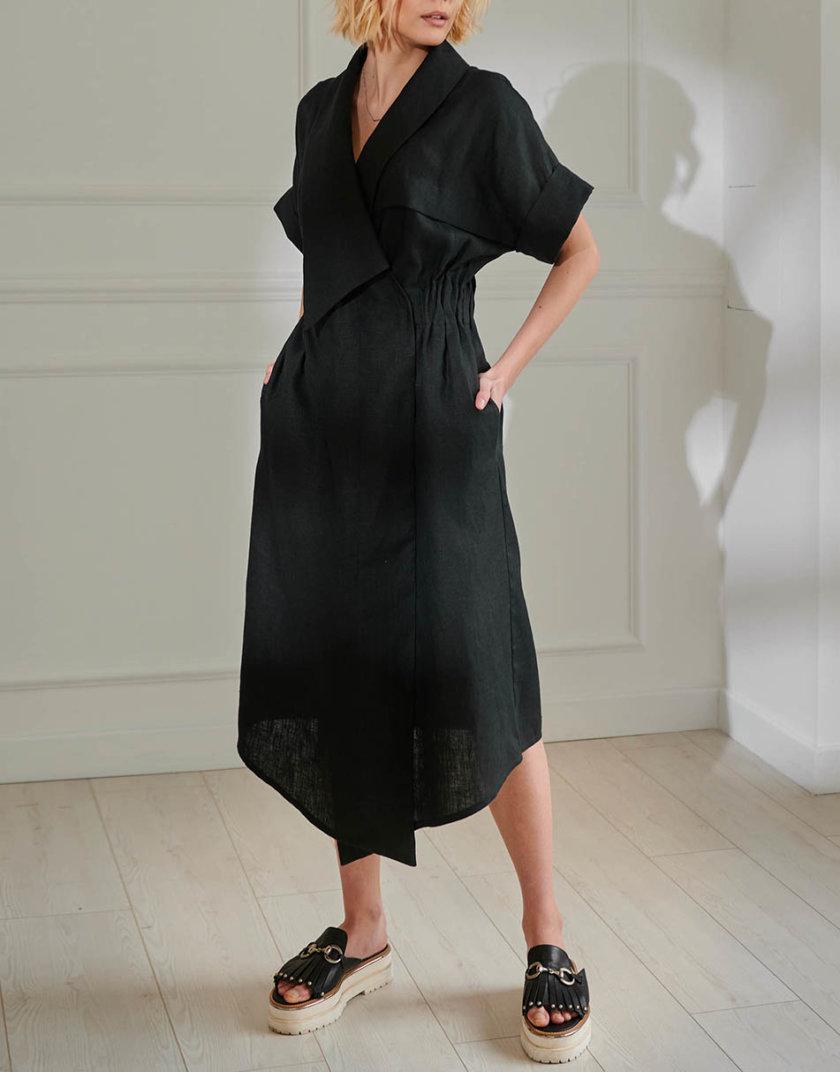Платье из льна KLNA_LN-9, фото 1 - в интернет магазине KAPSULA