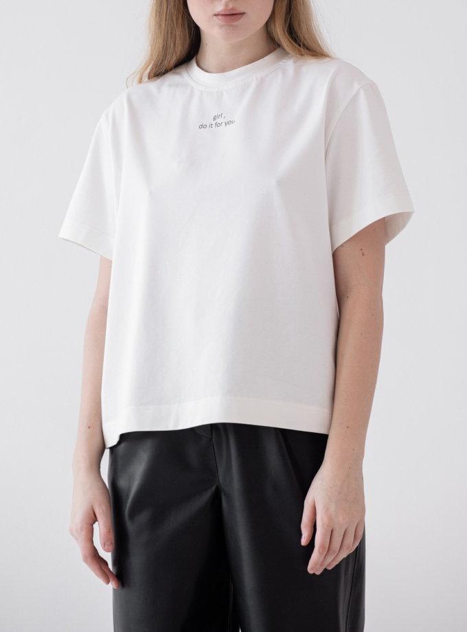 Хлопковая футболка MRZZ_mz_102921, фото 1 - в интернет магазине KAPSULA