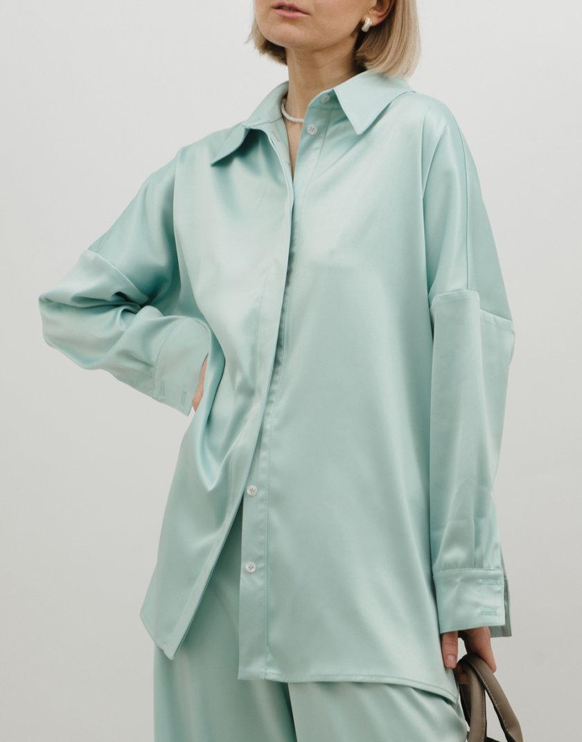 Удлиненная  рубашка прямого кроя MNTK_MTS2136, фото 1 - в интернет магазине KAPSULA