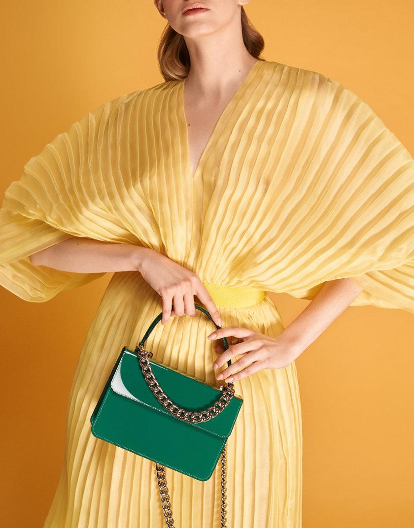 Кожаная сумка Boy Bag in Gloss Green SNKD_P0036S, фото 1 - в интернет магазине KAPSULA