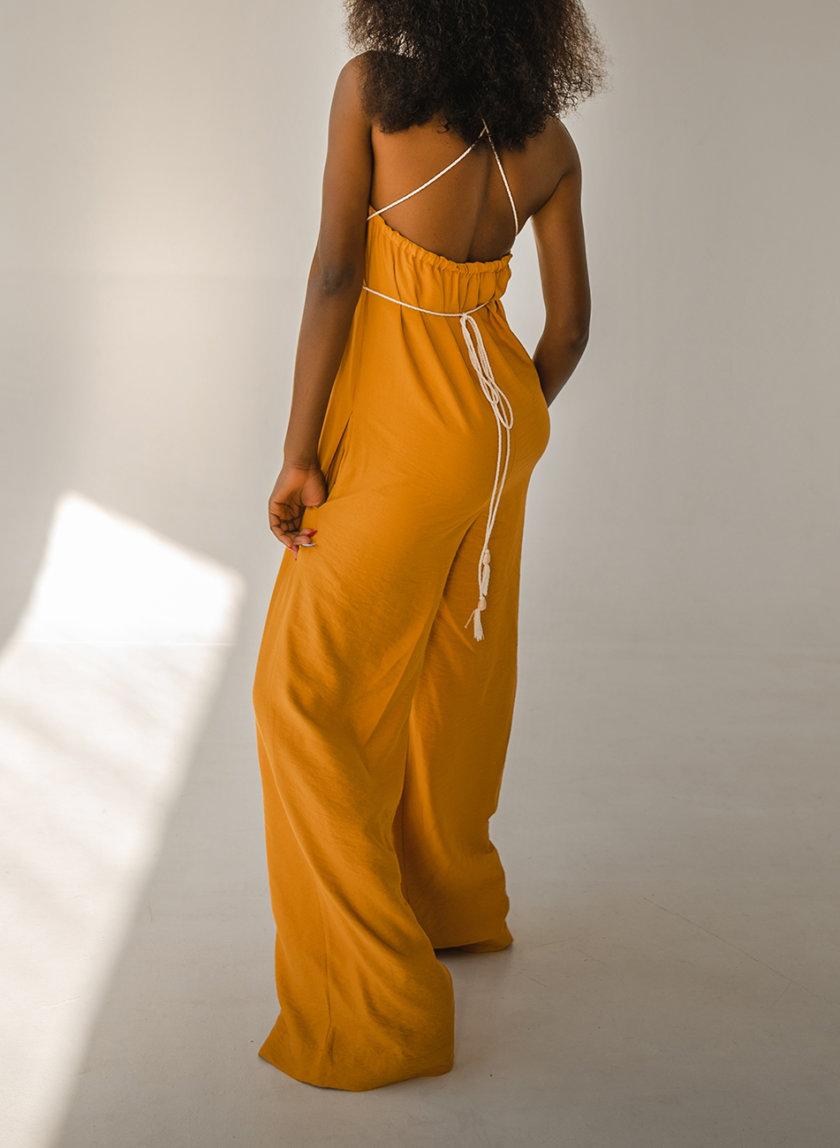 Комбинезон с широкими брюками SHE_overalls_yellow, фото 1 - в интернет магазине KAPSULA