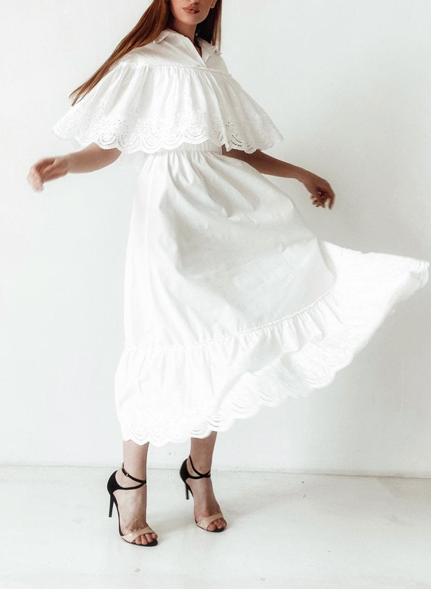 Юбка макси с кружевом SHE_skirt_maxi_milk, фото 1 - в интернет магазине KAPSULA