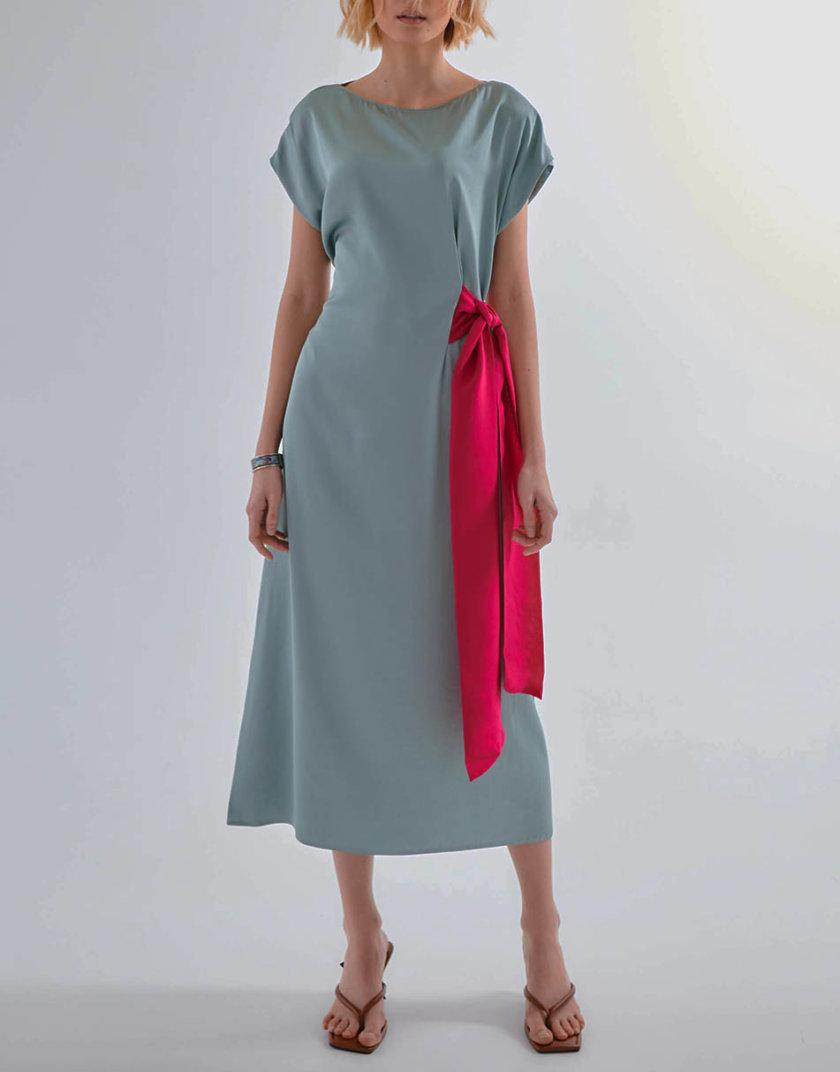 Хлопковое платье с поясом KLNA_SL-2, фото 1 - в интернет магазине KAPSULA