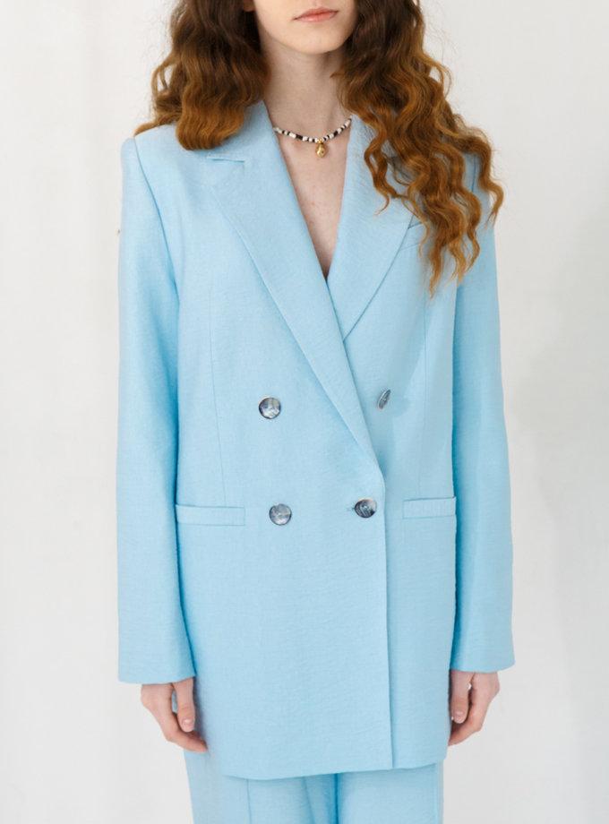 Пиджак двубортный из льна VONA_SS-21-40, фото 1 - в интернет магазине KAPSULA