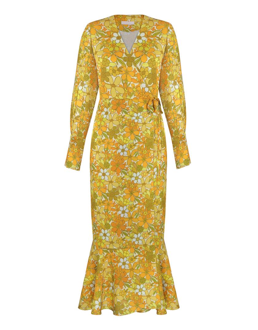 Платье на запах в принт SAYYA_SS1120-1, фото 1 - в интернет магазине KAPSULA