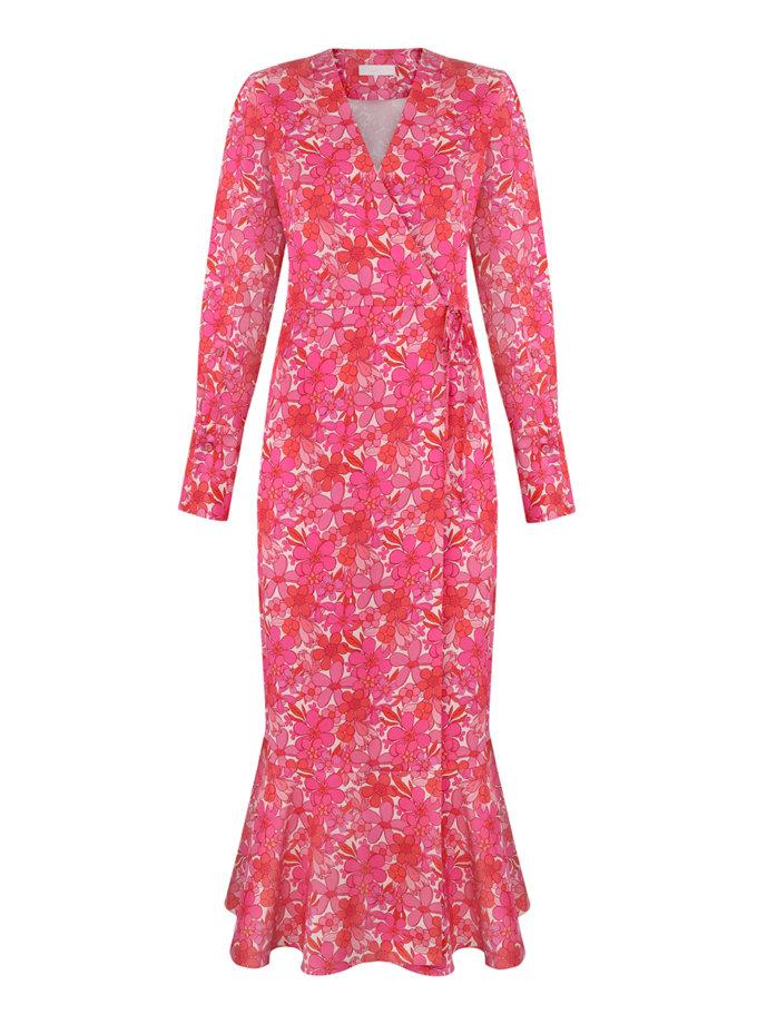 Платье на запах в принт SAYYA_SS1120, фото 1 - в интернет магазине KAPSULA
