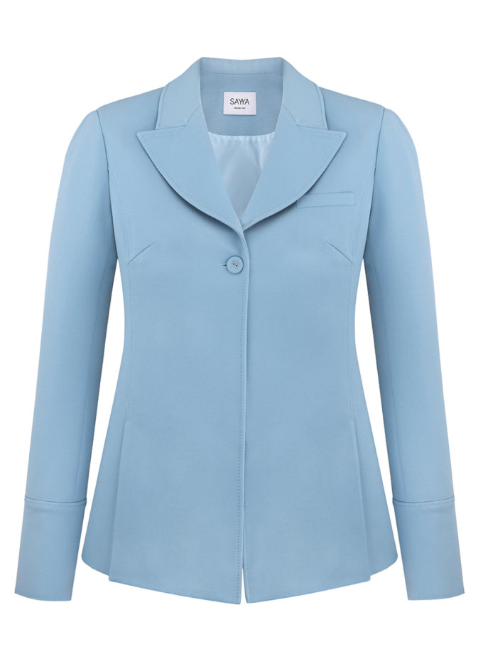 Полуприлегающий жакет-рубашка SAYYA_SS1130, фото 1 - в интернет магазине KAPSULA