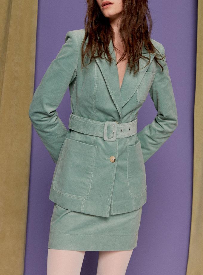 Вельветовая юбка мини SAYYA_SS1135-1, фото 1 - в интернет магазине KAPSULA