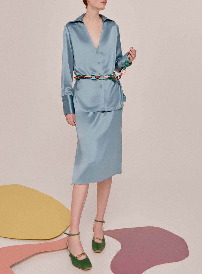 Шелковая юбка миди SAYYA_SS1138, фото 1 - в интернет магазине KAPSULA