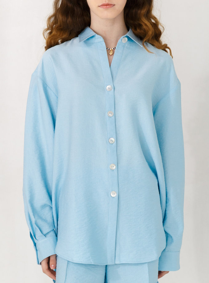 Льняная рубашка VONA_SSYA-21-42, фото 1 - в интернет магазине KAPSULA