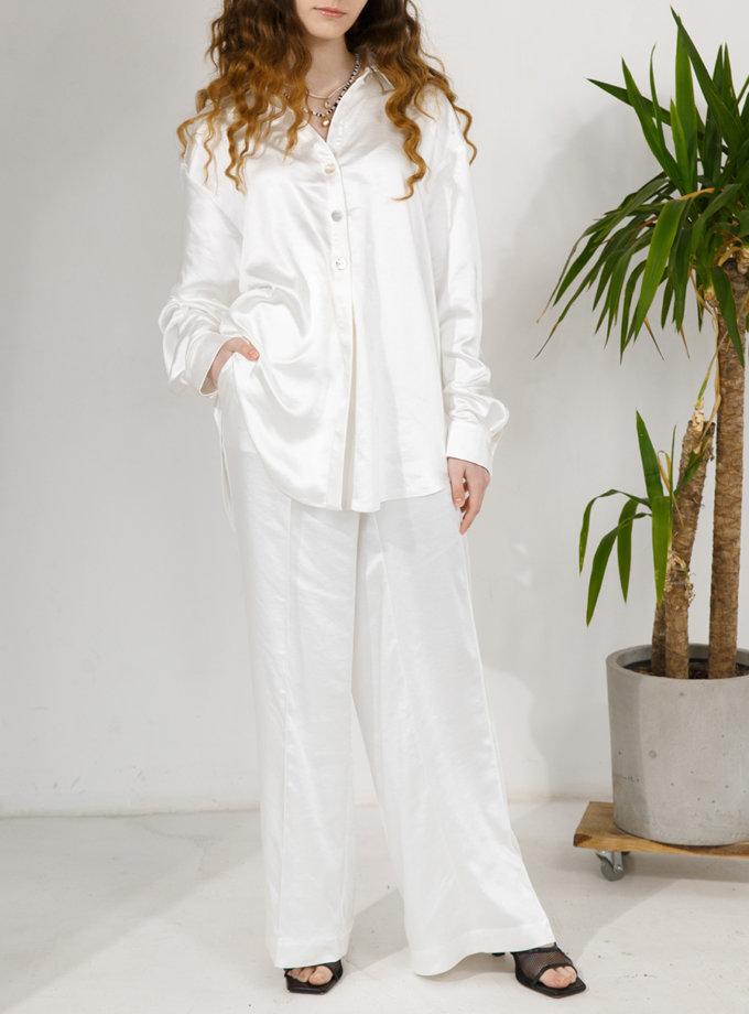 Атласная рубашка VONA_SSYA-21-44, фото 1 - в интернет магазине KAPSULA