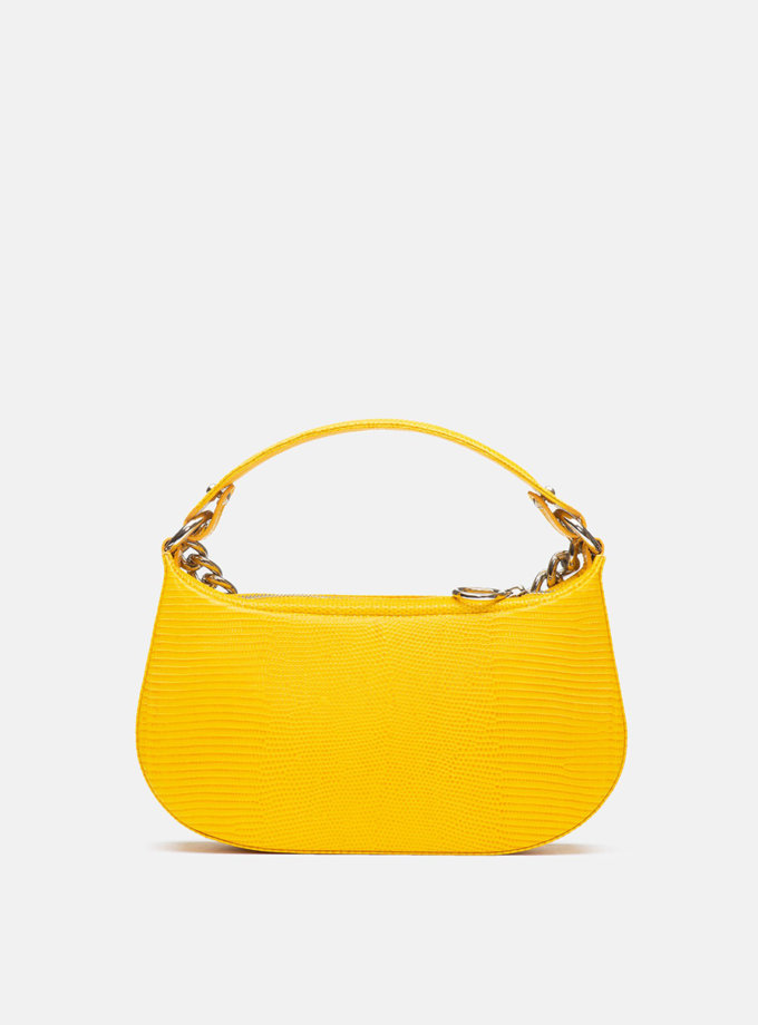 Кожаная сумка Saddle Bag in  Honey Yellow SNKD_P0049S, фото 1 - в интернет магазине KAPSULA