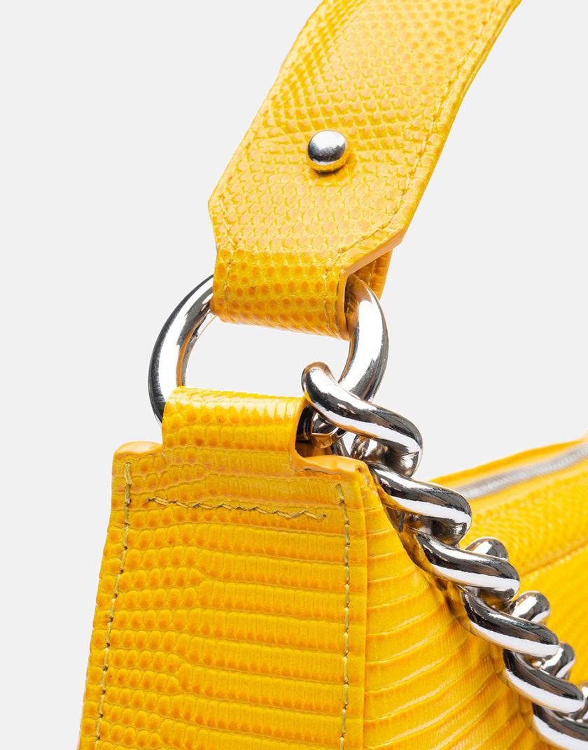 Кожаная сумка Saddle Bag in  Honey Yellow SNKD_P0049S, фото 1 - в интернет магазине KAPSULA