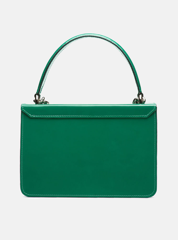 Кожаная сумка Boy Bag in Gloss Green SNKD_P0036S, фото 1 - в интернет магазине KAPSULA
