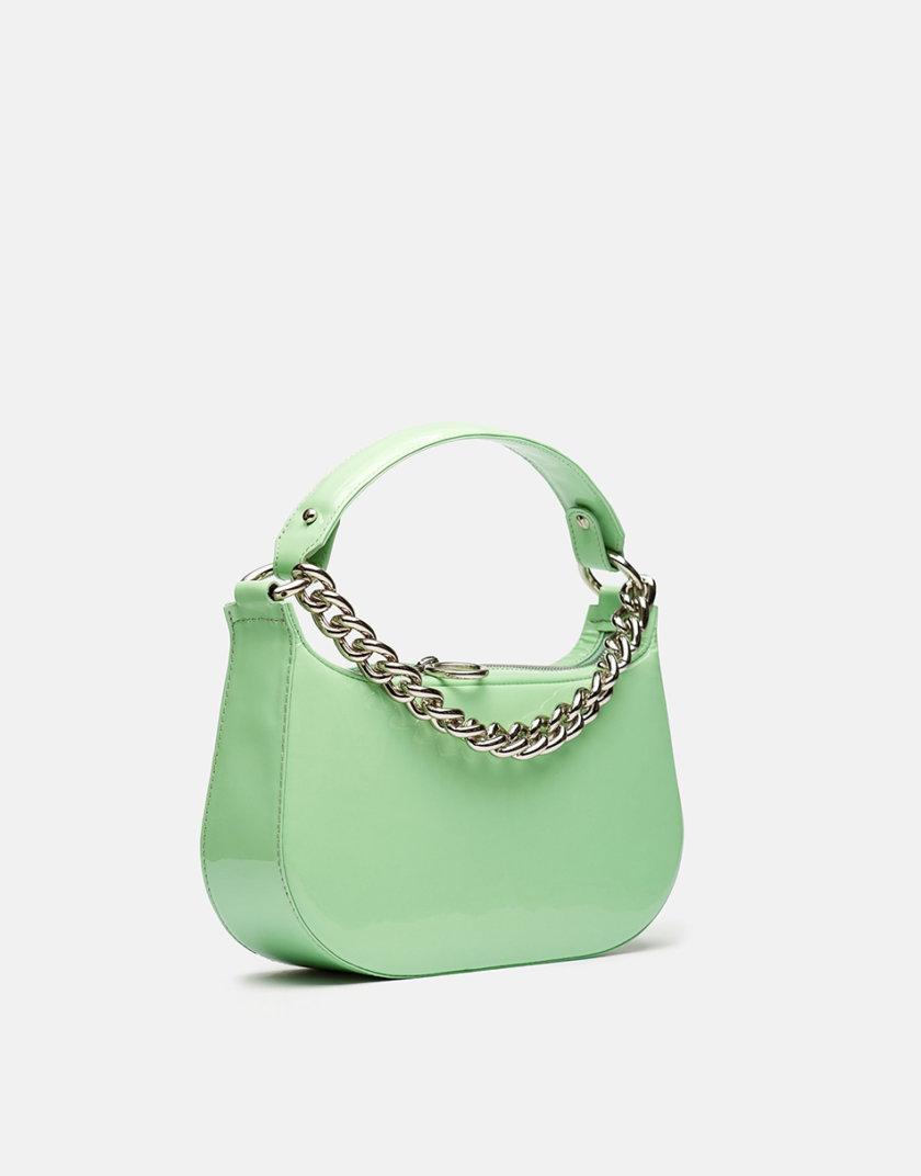 Кожаная сумка Saddle Bag in Light Green Gloss SNKD_P0037S, фото 1 - в интернет магазине KAPSULA