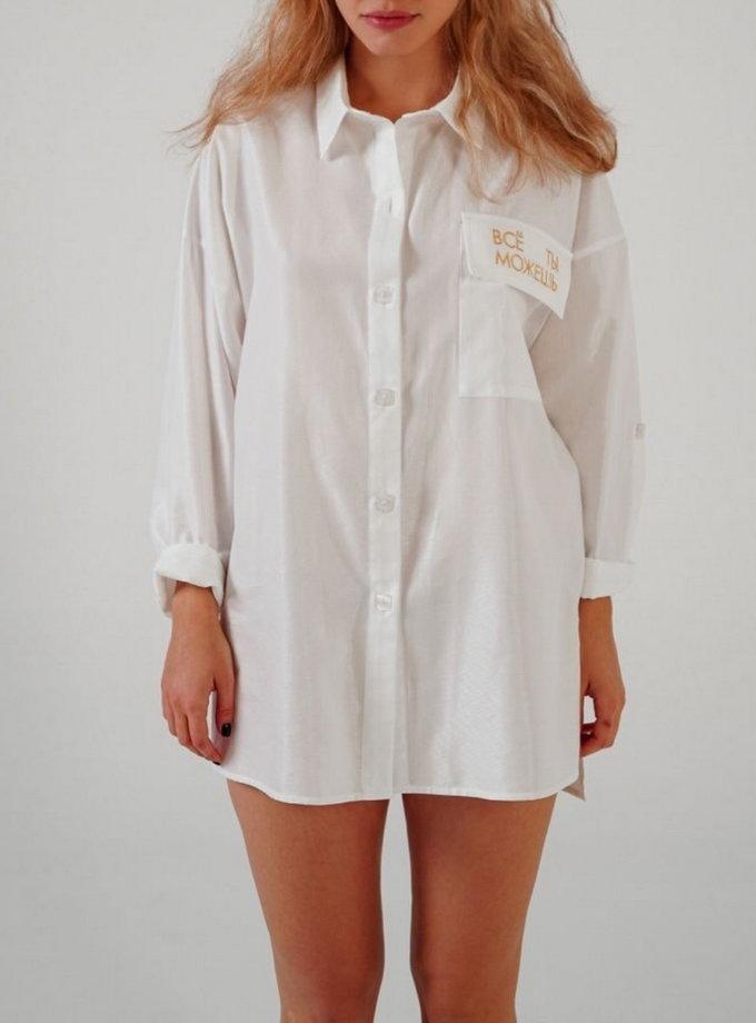 Хлопковая рубашка oversize TATI_3343, фото 1 - в интернет магазине KAPSULA