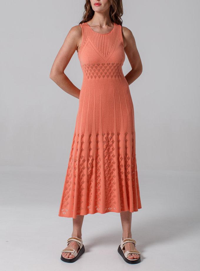 Ажурное платье без рукавов NBL_2103-DRESSLACEPETCORALL, фото 1 - в интернет магазине KAPSULA