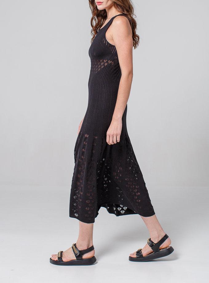 Ажурное платье без рукавов NBL_2103-DRESSLACEPETBLACK, фото 1 - в интернет магазине KAPSULA