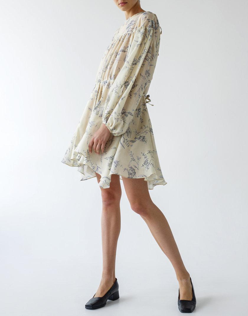 Платье свободного кроя из шелка LAB_00053, фото 1 - в интернет магазине KAPSULA