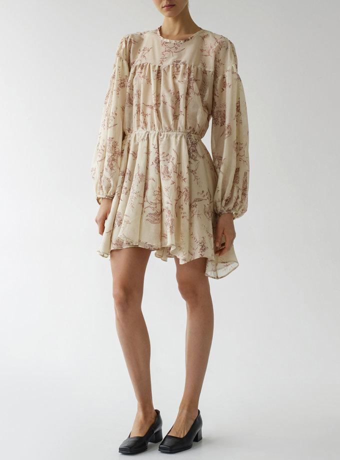 Платье свободного кроя из шелка LAB_00054, фото 1 - в интернет магазине KAPSULA