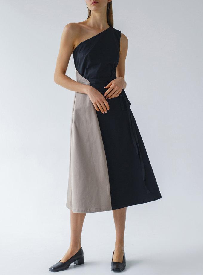 Бавовняна сукня на запах LAB_00055, фото 1 - в интернет магазине KAPSULA