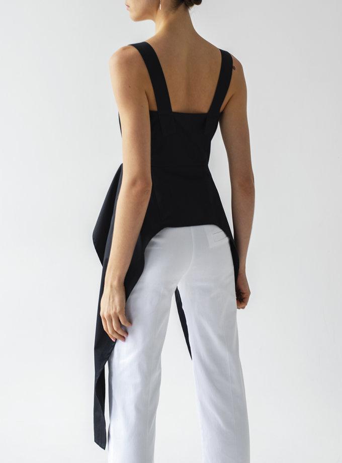 Хлопковые брюки средней посадки LAB_00056, фото 1 - в интернет магазине KAPSULA