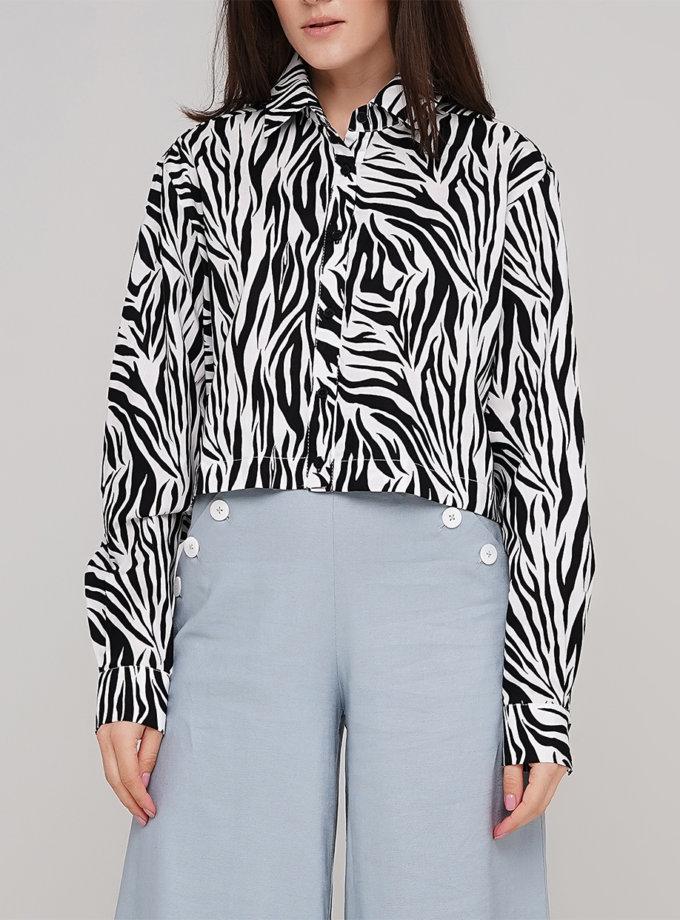 Укороченная рубашка из хлопка AY_3195, фото 1 - в интернет магазине KAPSULA
