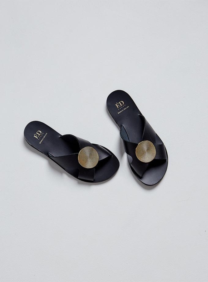 Кожаные шлепки Selena ED_SEL_01, фото 1 - в интернет магазине KAPSULA