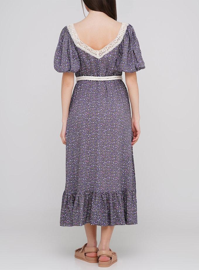 Платье миди с поясом AY_3205, фото 1 - в интернет магазине KAPSULA