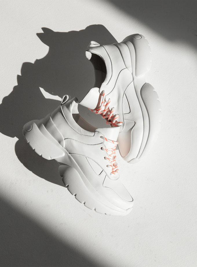 Кожаные кроссовки Brooklyn ED_BRK_02, фото 1 - в интернет магазине KAPSULA