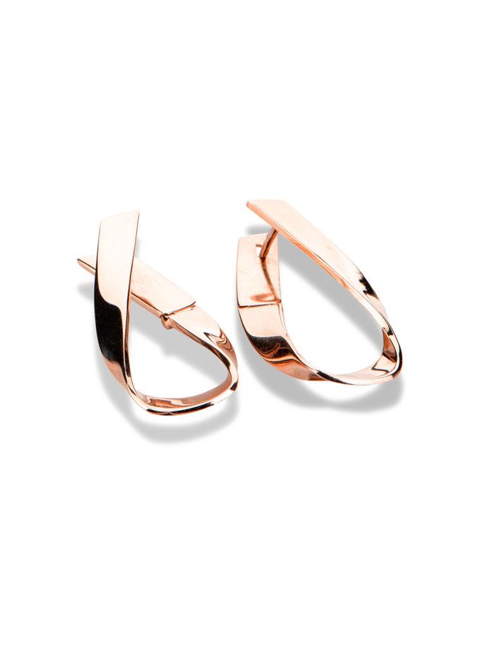 Серьги из краснго золота DUD_2_10_008, фото 1 - в интернет магазине KAPSULA