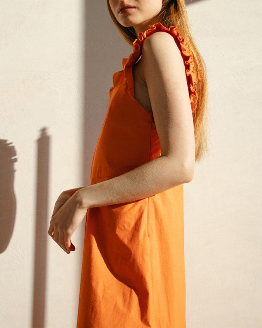 Хлопковый сарафан с акцентными бретелями NM_467, фото 1 - в интернет магазине KAPSULA