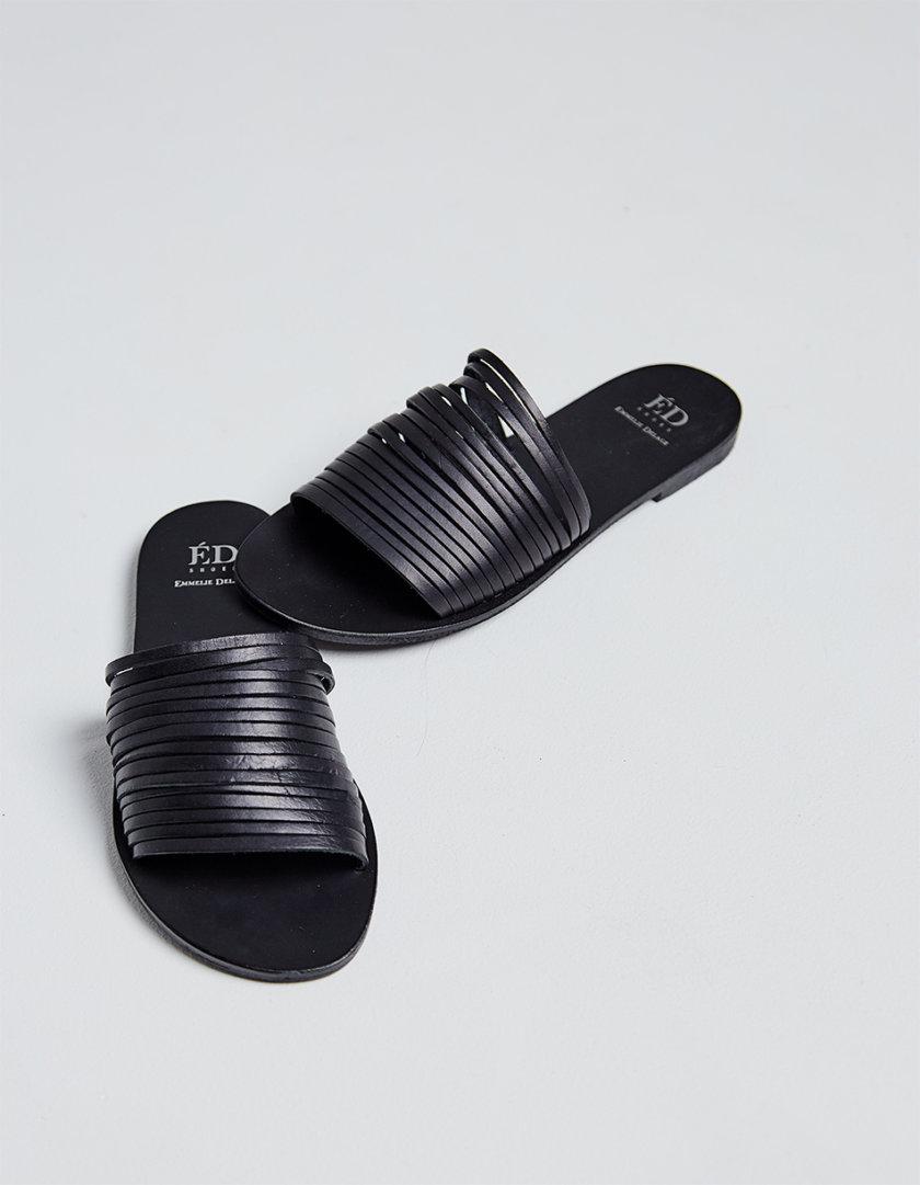 Кожаные шлепки Demetra ED_DEM_01, фото 1 - в интернет магазине KAPSULA