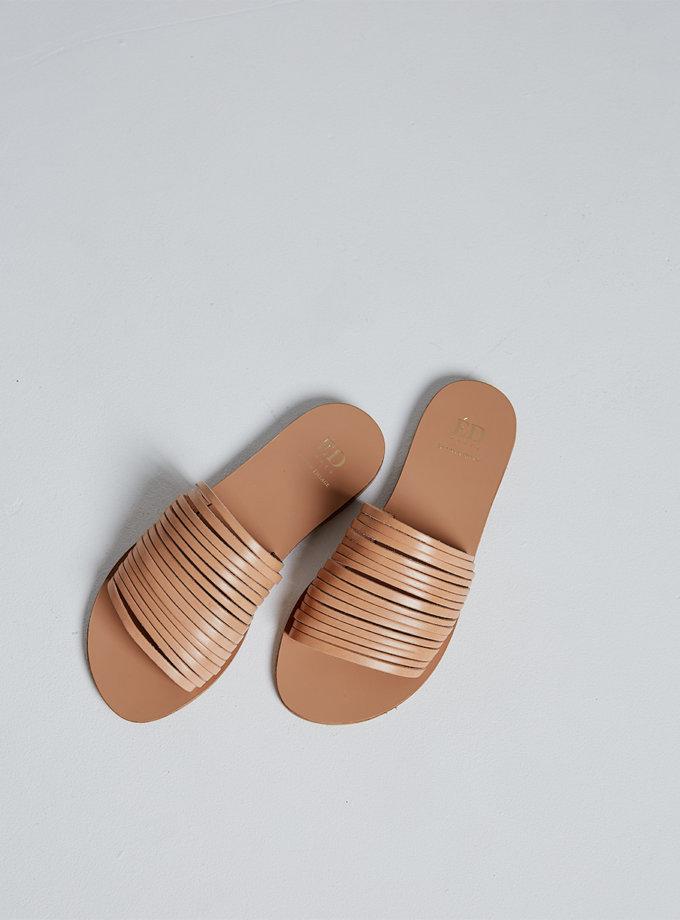 Кожаные шлепки Demetra ED_DEM_13, фото 1 - в интернет магазине KAPSULA
