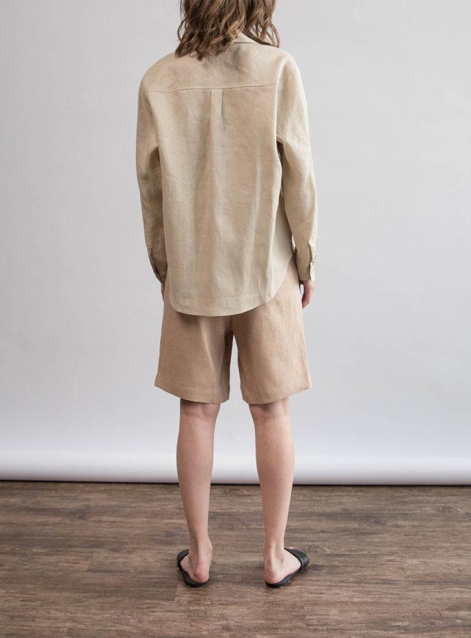 Льняная рубашка oversize ZHRK_zbasic0001wgb-beige, фото 1 - в интернет магазине KAPSULA