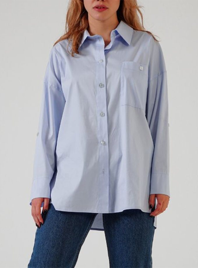 Хлопковая рубашка oversize TATI_3334, фото 1 - в интернет магазине KAPSULA