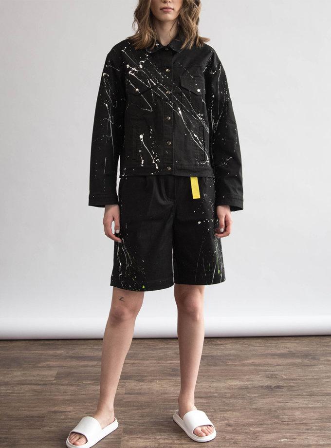 Хлопковые шорты с ручной росписью ZHRK_zkss210009, фото 1 - в интернет магазине KAPSULA