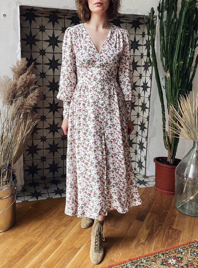 Платье миди с длинным рукавом WN_AIM_136, фото 1 - в интернет магазине KAPSULA