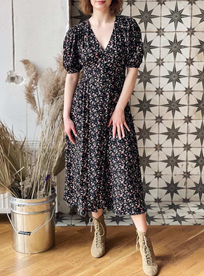 Платье миди с коротким рукавом WN_AIM_137, фото 1 - в интернет магазине KAPSULA