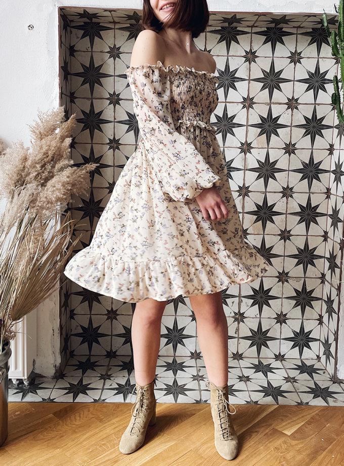 Платье мини в цветочный принт WN_AIM_146, фото 1 - в интернет магазине KAPSULA
