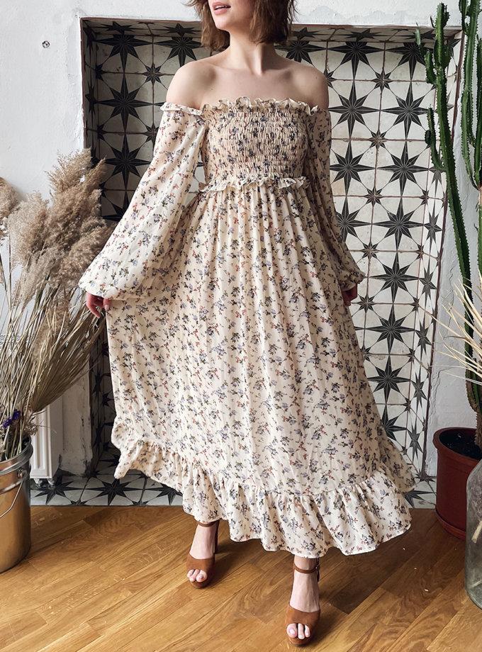 Платье макси в цветочный принт WN_AIM_147, фото 1 - в интернет магазине KAPSULA