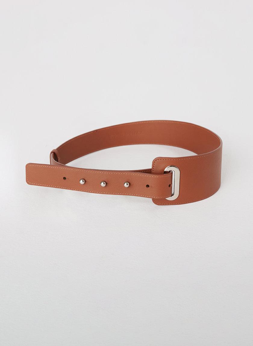 Кожаный ремень на кобурных застежках KLNA_BELT_BRAWN, фото 1 - в интернет магазине KAPSULA