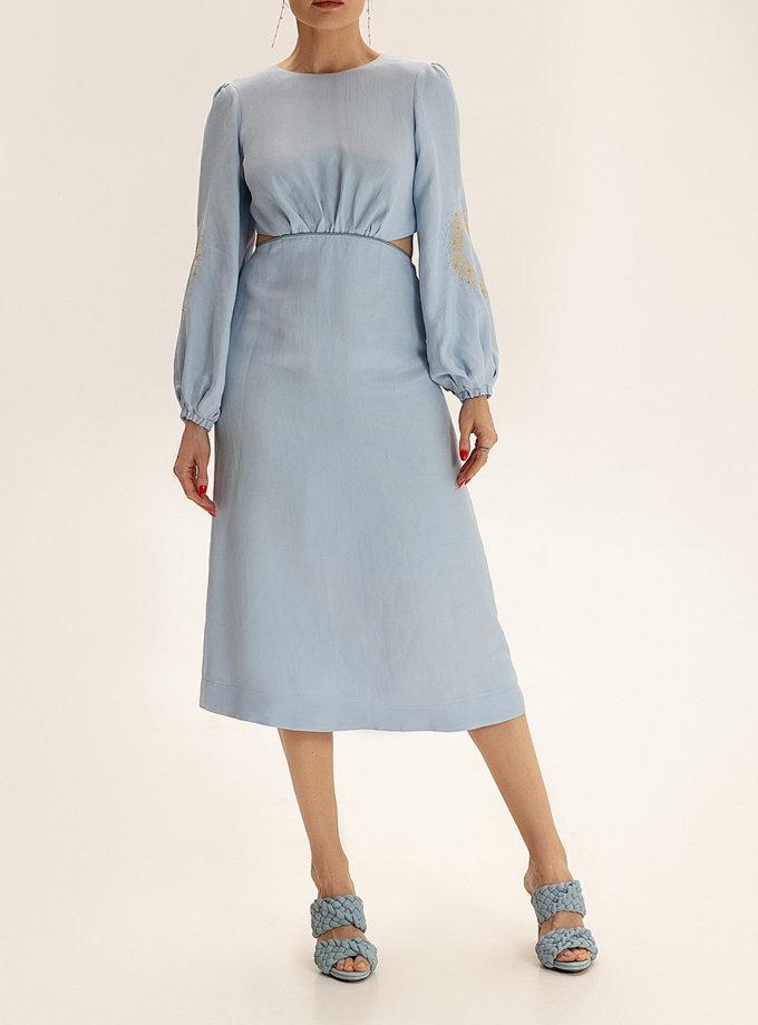 Платье миди из льна WNDR_ss21_lbl_10, фото 1 - в интернет магазине KAPSULA