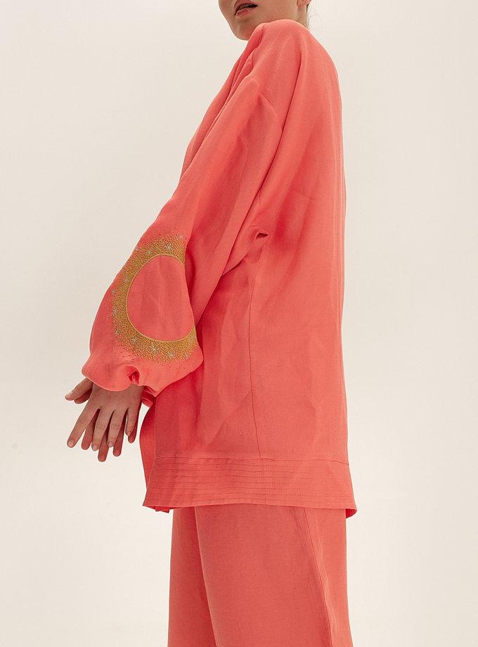 Короткое кимоно из льна WNDR_ss21_lc_01, фото 1 - в интернет магазине KAPSULA