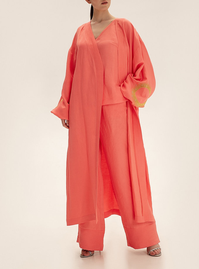 Длинное кимоно из льна WNDR_ss21_lc_02, фото 1 - в интернет магазине KAPSULA