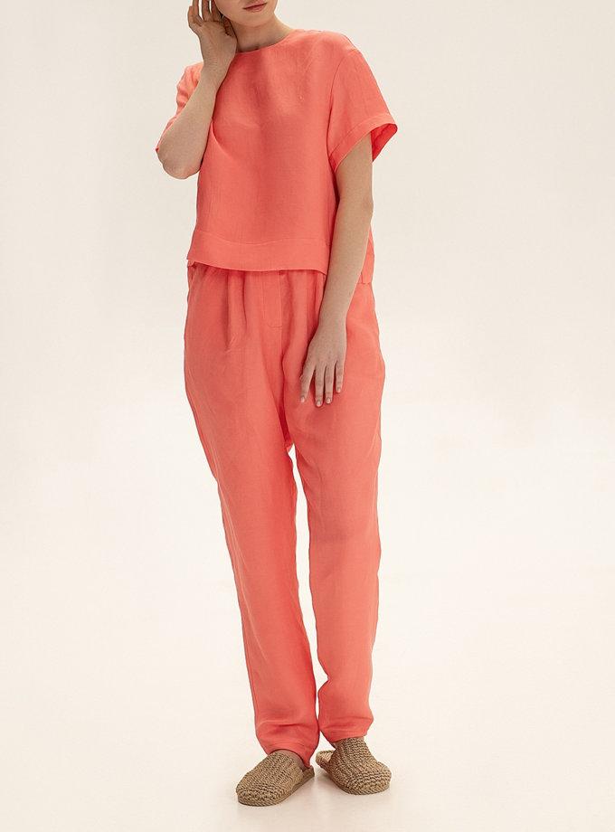 Зауженные брюки из льна WNDR_ss21_lc_06, фото 1 - в интернет магазине KAPSULA