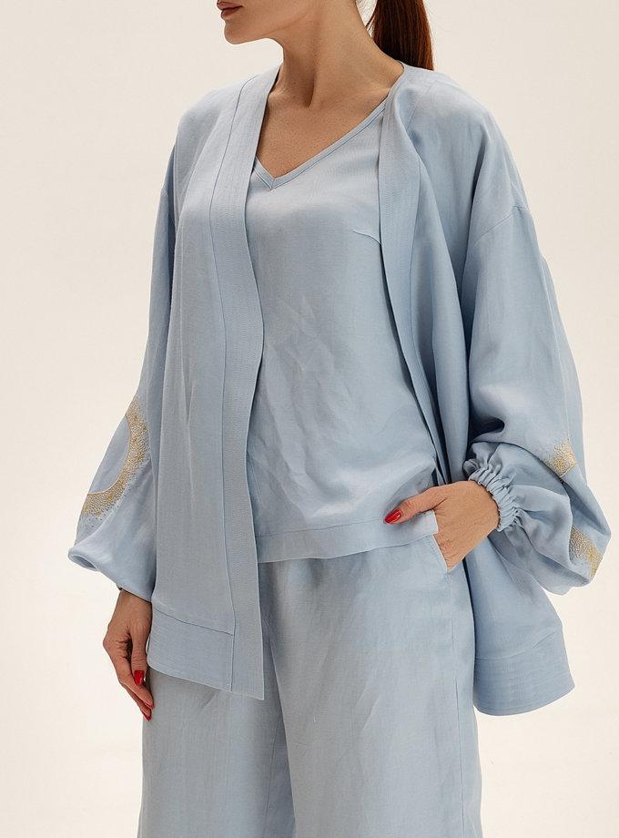 Короткое кимоно из льна WNDR_ss21_lbl_01, фото 1 - в интернет магазине KAPSULA