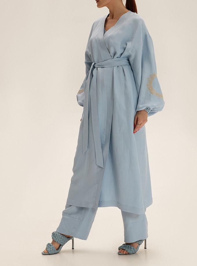 Длинное кимоно из льна WNDR_ss21_lbl_02, фото 1 - в интернет магазине KAPSULA