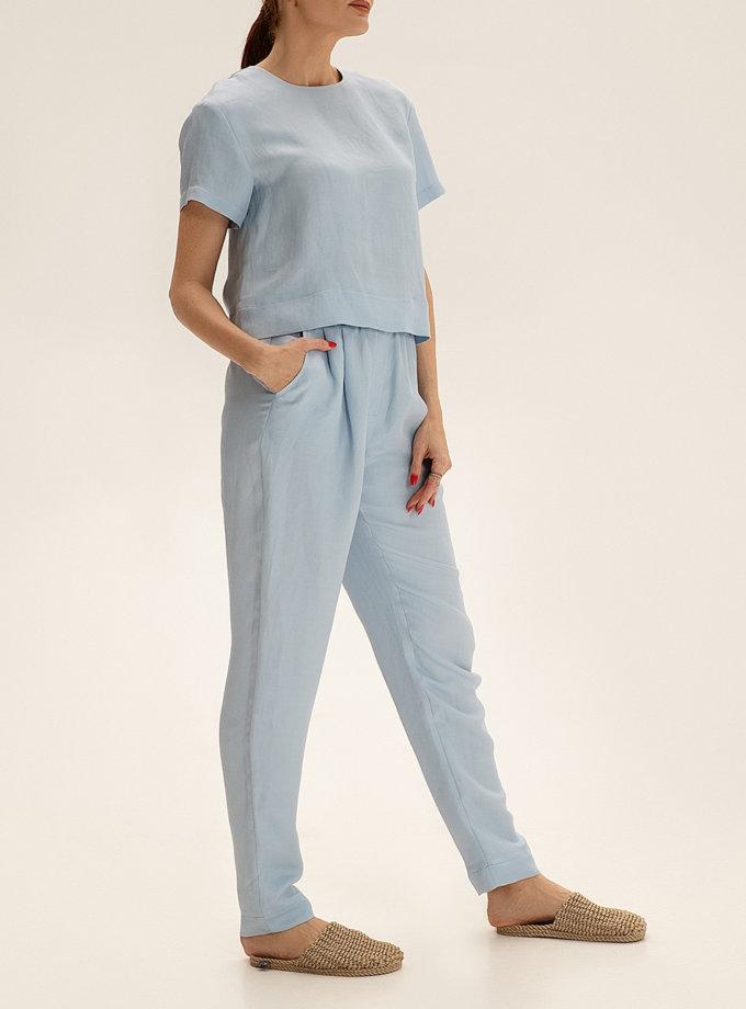 Зауженные брюки из льна WNDR_ss21_lbl_06, фото 1 - в интернет магазине KAPSULA