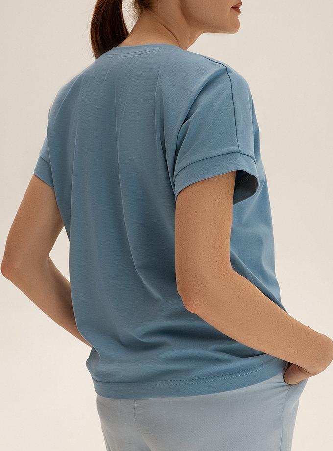 Хлопковая футболка WNDR_ss21_tbl_02, фото 1 - в интернет магазине KAPSULA
